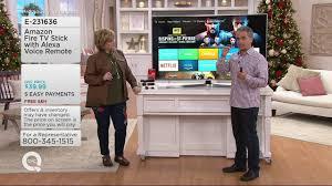 tv qvc. amazon fire tv stick with alexa voice remote on qvc tv qvc