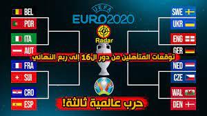 توقعات المتأهلين من مواجهات دور ال 16 يورو 2020 إلى ربع النهائي - YouTube
