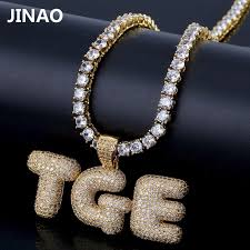 custom name iced out bubble letters chain pendants necklaces men s charms zircon hip hop jewelry with