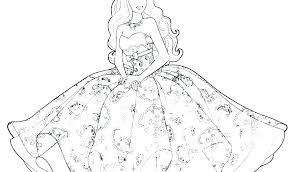 Barbie Girl Coloring Pages Free Johnrozumartcom