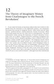 the theory of imaginary money from charlemagne to the french inside