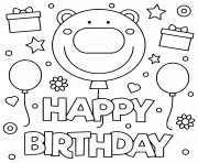 Of course at our website your kids will enjoy coloring this amazing drawing together with you.try. Happy Birthday Coloring Pages To Print Happy Birthday Printable