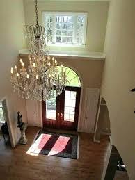 foyer crystal chandelier large foyer crystal chandeliers foyer crystal chandelier