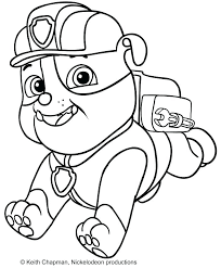 Rubble Paw Patrol Coloring Page Pages Good Spy Chase Printable