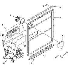 kitchenaid dishwasher parts. door kitchenaid dishwasher parts u