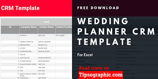 Wedding Planner Crm Template For Excel Free Download