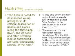 mark twain adventures of huckleberry finn ppt video online  17 huck finn