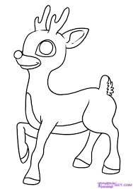 Baby Reindeer Coloring Pages Printable Coloring Page For Kids