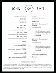 curriculum vitae free template printable blank resume