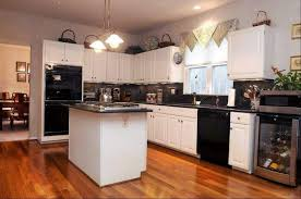 Small Picture Fashionable And Sophisticated Kitchen Black Appliances