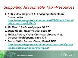 Accountable Talk Anchor Chart Name Of Your Module Here Student Achievement In Literacy
