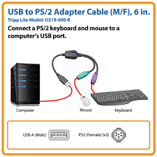 usb to ps 2 adapter keyboard mouse a male to 2x mini din6 female usb to ps 2 adapter keyboard mouse a male to 2x mini din6 female u219 000 r tripp lite