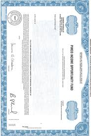 Form Of Share Certificate Form Of Share Certificate Of The Common Shares