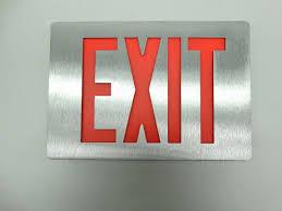 Emergi Lite Exit Lights Nib Emergi Lite Thomas Betts Ledp1r N Black Body Aluminum Face Led Exit Sign