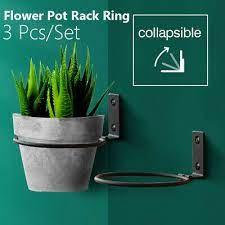 3pcs flower pot trays wall mounted
