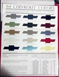 1964 Chevrolet Paint Color Trivia I Never Knew That