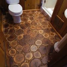 Attractive Cheap Flooring Ideas   Cross Cut Wood Floor