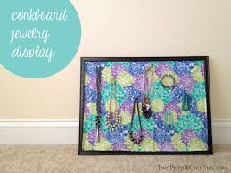corkboard jewelry display - diy - crafting - pinterest challenge --  twopurplecouches.com