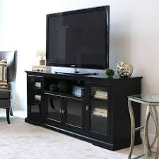 70 inch black tv stand. Black Wood Highboy TV Stand With 70 Inch Black Tv Stand