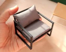 Furniture miniature Handmade Miniature Armchair 112th Scale Modern Miniature Furniture For Dollhouses Ebay Miniature Furniture Etsy