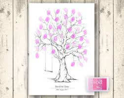 Classy Yet SassyFingerprint Baby Shower Tree