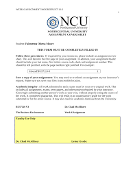 Cover For Assignment Template Northcentral University Dissertation Proposal Template
