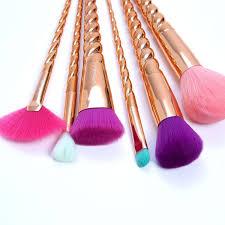 beauty brushes set. 6pc copperella brush set beauty brushes e