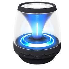 speakers mini. wireless mini portable bluetooth speakers with led lights (black)
