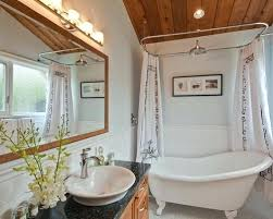 free standing tub with shower simple stunning bathroom with ceiling to floor shower