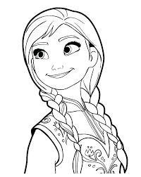 Disney Color Pages Frozen Disney Princess Coloring Pages Frozen Anna