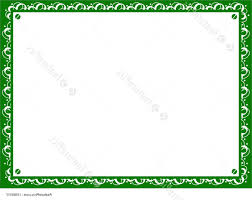 Certificate Background Free Best Free Vector Certificate Background In Green Border Stock