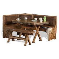 Sunny Designs Nook Sunny Designs Sedona Rustic Oak Wood Breakfast Nook Set