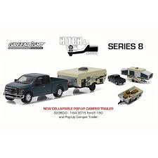 Ford F-150 Pickup Truck and Pop-up Camper Trailer, Blue - Greenlight ...
