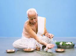 Hand position for Pitru Tarpanam is unique