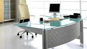 Glass Home Office Desk Decoration Formacioncee Com Inside