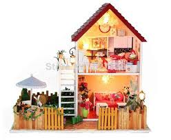cheap wooden dollhouse furniture. Cheap Doll House Miniature, Buy Quality Shark Directly From China Suppliers: Dollhouse Assembly Fully Furnished LED Lights Wooden Furniture