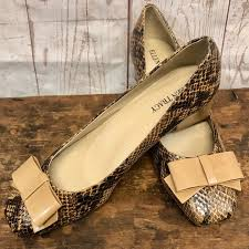 Ellen Tracy Shoes | Ellen Tracy Barton Snakeskin Bow Shoes | Poshmark