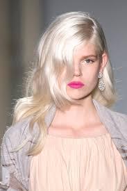 Wavy Platinum Hair