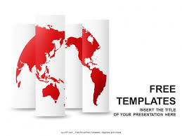 World Map Power Point Red World Map Powerpoint Templates Design Download Free Daily