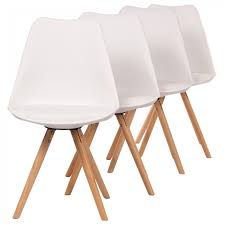 Makika Retro Stuhl Design Stuhl Mool 4er Set In Weiß Ma Trading Ihr Spezialist Für Direktimport