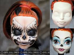repaint by eifel monster high skelita calaveras doll by eifel85 eifel doll dress