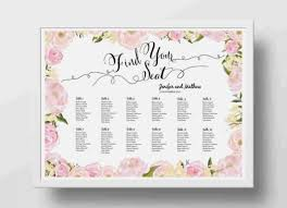 bridal shower seating chart template template designs and ideas bridal shower seating chart