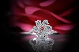 fancy intense purplish pink diamond ring 2 86ct tw