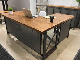 custom office design. Rustic Wood L Shaped Desk Custom The Carruca By Iron Age Office Design