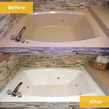 before after jacuzzi tub refinish