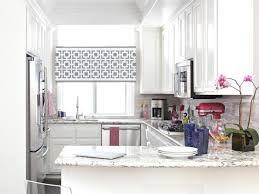 Kitchen Windows Provide Privacy And Style With A Stenciled Window Treatment Hgtv