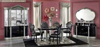 black and silver furniture. classic dining room barocco minimalist black and silver furniture t