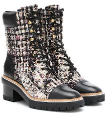 Miller Tweed Ankle Boots