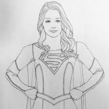 Coloring Supergirl Coloring Pages Best For Kids And Wuming Me