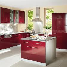 Kitchen Cabinets Red And White Red And White Modular Kitchen Designs 07504520170514 Ponyiex